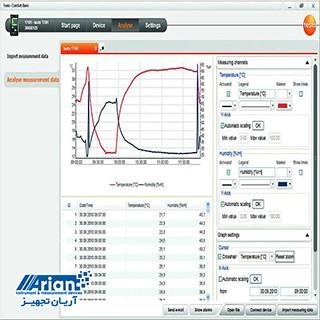 نرم افزار اتصال به کامپیوتر ComSoft Basic برای دیتالاگر دما TESTO 174t